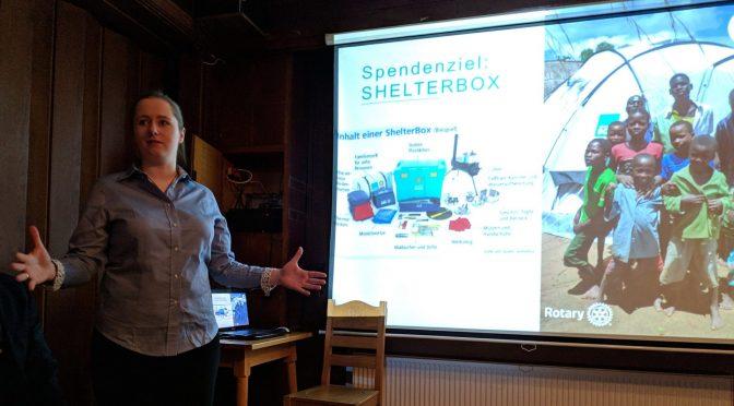 Sherryprobe zugunsten Shelterbox